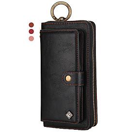 Недорогие Чехлы и кейсы для Galaxy Note 8-многофункциональный браслет кожаный чехол для samsung note 10 плюс 9 8 кошелек / натуральная кожа / ударопрочные однотонные чехлы