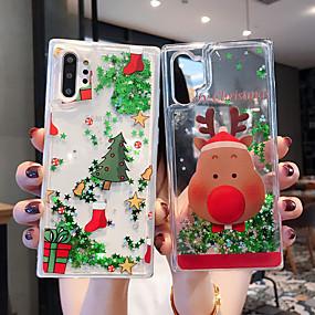 Недорогие Чехлы и кейсы для Galaxy Note 8-Кейс для Назначение SSamsung Galaxy S9 / S9 Plus / S8 Plus Движущаяся жидкость / Прозрачный / С узором Кейс на заднюю панель Рождество ТПУ