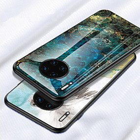 Недорогие Чехлы и кейсы для Huawei Mate-роскошный мрамор закаленное стекло чехол для huawei mate 30 pro mate 20 pro mate 20x mate 20 lite mate 10 pro mate 10 lite мягкий силиконовый каркас защитный чехол для телефона чехол