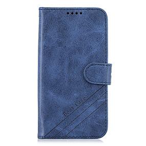 Недорогие Чехлы и кейсы для Galaxy J7(2017-Кейс для Назначение SSamsung Galaxy S9 / S9 Plus / S8 Plus Кошелек / Бумажник для карт / со стендом Чехол Однотонный Кожа PU