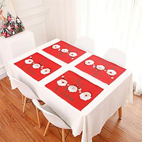 olcso Tányéralátét-1db hímzett karácsonyi terítő karácsonyi asztaldísz lakberendezési asztal szőnyeg