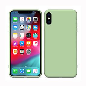 voordelige iPhone 11 Pro Max hoesjes-Siliconen hoesje voor Apple iPhone 11 vloeibare siliconen volledige lichaamsbescherming iPhone 11 pro schokbestendige hoes massief veelkleurig silicagel iPhone 7 / iPhone X / iPhone 8