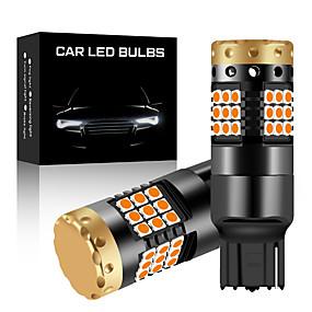 olcso Car Signal Lights-2db t20 w21w 7440 irányjelző lámpa nincs hipervaku t20 7440 izzó irányjelző lámpa sárga 12v 3030 36smd canbus hibamentes led