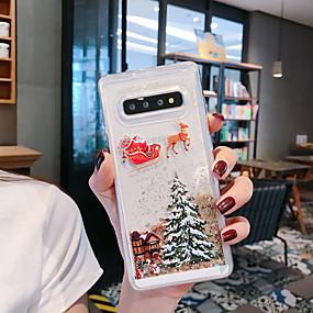hesapli Galaxy S7 Edge İçin Kılıflar / Kapaklar-Pouzdro Uyumluluk Samsung Galaxy S9 / S9 Plus / S8 Plus Akan Sıvı / Temalı / Işıltılı Parlak Arka Kapak ağaç / Noel TPU