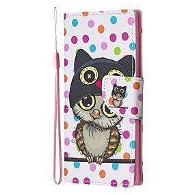 Недорогие Чехлы и кейсы для Galaxy Note 8-Кейс для Назначение SSamsung Galaxy Note 9 / Note 8 / Galaxy Note 10 Кошелек / Бумажник для карт / со стендом Чехол Животное Кожа PU