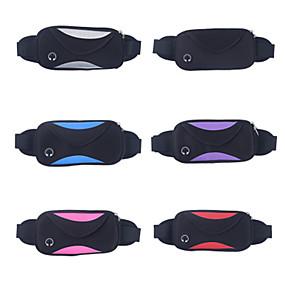 olcso Kempingezés & hátizsákos utazás-Övtáska Vízálló Csúszásgátló Viselhető YKK Zipper Külső Futás Jégkorcsolyázás Downhill Lycra Fekete Szürke Bíbor