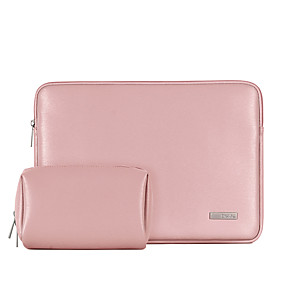 cheap New Arrivals-13.3 Inch Laptop / 14 Inch Laptop / 15.6 Inch Laptop Sleeve PU Leather Plain / Leather for Business Office for Colleages & Schools for Travel Water Proof Shock Proof