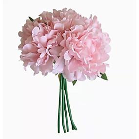 olcso Művirágok-Művirágok 5 Ág Klasszikus Modern Kortárs minimalista stílusú Bazsarózsák