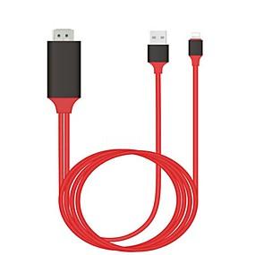 olcso Adapterek-1080p hdmi HDTV kábel villámláshoz digitális av adapterhez iPhone 8 7 6s 5s 8plus 8 tűs usb-hdmi kábel az ipad mini air pro-hez