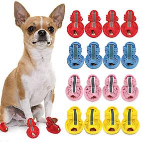 voordelige Honden Sieraden & Accessoires-Kat Hond Schoenen & Laarzen Voor huisdieren PU-nahka Geel / Zomer