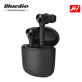 cheap New Arrivals-Bluedio Hi TWS True Wireless Earbuds Bluetooth 5.0 Earphone for Smart Phone Android iOS Stereo Sport Headset with Charging Box Built-in Microphone