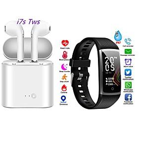 abordables Pulseras inteligentes-pulsera inteligente pulsera de salud pulsera deportiva frecuencia cardíaca presión arterial con tws auriculares inalámbricos bluetooth auriculares de música