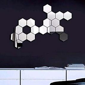 billige Trædekorationer-vægklistermærker aftagelig akryl spejl indstilling moderne moderne til boligindretning stue soveværelse udsmykning 12stk