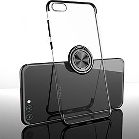 Недорогие Чехлы и кейсы для Huawei Mate-Кейс для Назначение Huawei / Vivo Huawei Honor 10 / Mate 10 / Mate 10 pro Защита от удара / Кольца-держатели / Матовое Кейс на заднюю панель Однотонный ТПУ / Металл