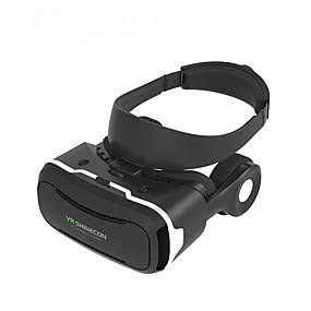olcso VR Glasses-3d senior vr headset vr shinecon 4. generációs 3d szemüveg vr film szemüveg karton fülhallgatóval 4,5-6,0 hüvelykes okostelefonhoz