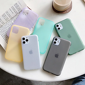 cheap iPhone 11-Case For Apple iPhone 11 / iPhone 11 Pro / iPhone 11 Pro Max Dustproof Back Cover Solid Colored TPU