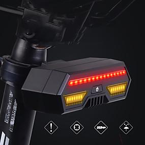 ieftine Lanterne-LED Lumini de Bicicletă Lumini de semnalizare Lumini de frânare Iluminat Bicicletă Spate Ciclism montan Bicicletă Ciclism Rezistent la apă Inducție inteligentă Wireless Telecomandă 85 lm Reîncărcabil
