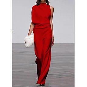 povoljno WOMEN SALE-Žene Crn Obala Red Wide Leg Jumpsuits Onesie, Jednobojni M L XL