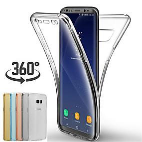 voordelige Galaxy S7 Edge Hoesjes / covers-case voor samsung galaxy s10 / s10 plus / s10e / s9 / s9 plus / s8 plus / s8 ultradunne full body cases effen gekleurde zachte tpu-case
