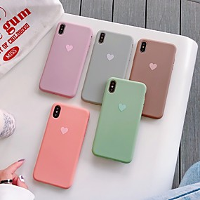 cheap iPhone 11-Case For Apple iPhone 11 / iPhone 11 Pro / iPhone 11 Pro Max Pattern Back Cover Heart TPU