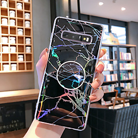 voordelige Galaxy S7 Edge Hoesjes / covers-hoesje Voor Samsung Galaxy S9 / S9 Plus / S8 Plus met standaard / Patroon Achterkant Marmer TPU