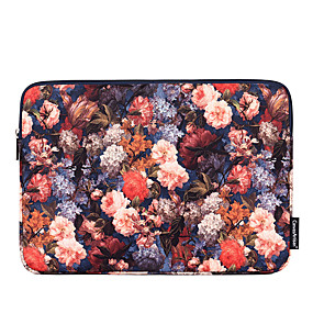 cheap New Arrivals-13.3 Inch Laptop / 14 Inch Laptop / 15.6 Inch Laptop Sleeve Polyester Floral / Retro for Business Office for Colleages & Schools for Travel Water Proof Shock Proof