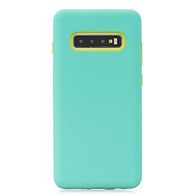 Недорогие Чехлы и кейсы для Galaxy Note 8-Кейс для Назначение SSamsung Galaxy S9 / S9 Plus / A6 (2018) Матовое Кейс на заднюю панель Однотонный ТПУ