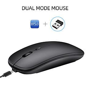 olcso Vezeték nélküli egerek és billentyűzetek-HXSJ M90 Vezeték nélküli bluetooth4.0 / Vezeték nélküli 2.4G Optikai Silent egér / töltés egér 1600 dpi 3 állítható DPI szint 4 pcs Kulcsok
