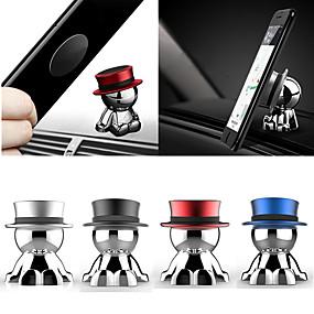 저렴한 테이블 상단-자기 자동차 마운트 대시 보드 휴대 전화 스탠드 홀더 360 360도 회전 대시 모자 남자 범용 아이폰 8 9 11 프로 최대 삼성 S8