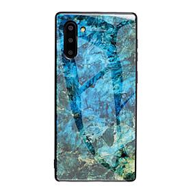 Недорогие Чехлы и кейсы для Galaxy Note 8-Кейс для Назначение SSamsung Galaxy S9 / S9 Plus / S8 Plus Ультратонкий / С узором Кейс на заднюю панель Градиент цвета / Мрамор Закаленное стекло