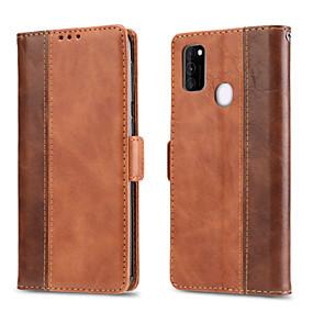voordelige Galaxy S7 Edge Hoesjes / covers-hoesje Voor Samsung Galaxy S9 / S9 Plus / S8 Plus Kaarthouder / Magnetisch / Auto Slapen / Ontwaken Volledig hoesje Effen PU-nahka