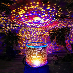 olcso Vakációs kellékek-Karácsonyi ajándékok Karácsonyi vetítő lámpa (véletlenszerű szín)