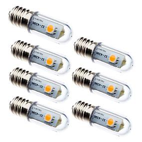 olcso LED kukorica izzók-7db 0.5 W LED kukorica izzók 15 lm E14 3 LED gyöngyök SMD 5050 Dekoratív Meleg fehér Fehér 100-240 V