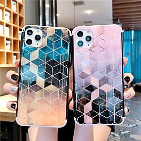 voordelige iPhone 11 Pro Max hoesjes-hoesje Voor Apple iPhone 11 / iPhone 11 Pro / iPhone 11 Pro Max Patroon / Glitterglans Achterkant Kleurgradatie / Geometrisch patroon / Glitterglans PC