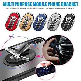 olcso asztallap-többcélú mobiltelefon-tartó 360 fokos autó szellőzőnyílás markolathoz rögzítő állvány forgás mágneses ujj gyűrűs telefontartó tartó