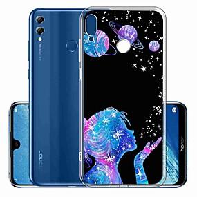 Недорогие Чехлы и кейсы для Huawei Mate-Кейс для Назначение Huawei Huawei P20 / Huawei P20 Pro / Huawei P30 С узором Кейс на заднюю панель Соблазнительная девушка ТПУ / P10 Lite
