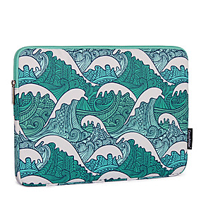 cheap New Arrivals-13.3 Inch Laptop / 14 Inch Laptop / 15.6 Inch Laptop Sleeve Polyester / Canvas Lines / Waves / Nautical for Business Office for Colleages & Schools for Travel Water Proof Shock Proof