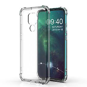 Недорогие Чехлы и кейсы для Huawei Mate-Кейс для Назначение Huawei Huawei Nova 3i / Huawei Nova 4 / Huawei P20 Защита от удара Кейс на заднюю панель Прозрачный ТПУ