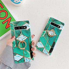 Недорогие Чехлы и кейсы для Galaxy Note 8-Кейс для Назначение SSamsung Galaxy S9 / S9 Plus / S8 Plus Покрытие / Кольца-держатели / С узором Кейс на заднюю панель Мрамор ТПУ