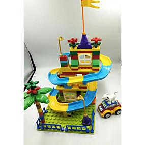 olcso Modellek és építőjáték-Marble Track Sets Golyópálya Gőzmozdony Kreatív Szülő-gyermek interakció Puha műanyag Gyermek Összes Játékok Ajándék 183 pcs