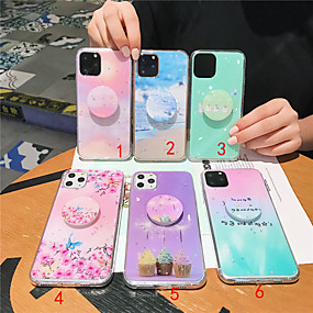voordelige iPhone 11 Pro Max hoesjes-hoesje Voor Apple iPhone 11 / iPhone 11 Pro / iPhone 11 Pro Max met standaard / Patroon Achterkant Landschap TPU