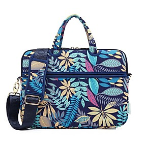 cheap New Arrivals-KAYOND 13.3 Inch Laptop / 14 Inch Laptop / 15.6 Inch Laptop Shoulder Messenger Bag / Briefcase Handbags Canvas Trees / Leaves / Vintage for Men for Women for Business Office Water Proof Shock Proof