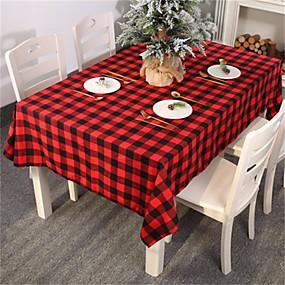 رخيصةأون شرشفات الطاولة-أحمر أسود متقلب منقوشة الاكسسوارات الجدول الديكور ديكور مفرش المائدة الجدول حامي الجدول يغطي الرجال الجدول القماش