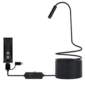 cheap New Arrivals-WIFI Endoscope Camera Mini Waterproof Cable Inspection Camera 8mm USB Endoscope Borescope For IOS Iphone Android PC hard