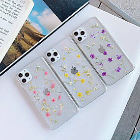 voordelige iPhone 11 Pro Max hoesjes-hoesje Voor Apple iPhone 11 / iPhone 11 Pro / iPhone 11 Pro Max Transparant / Patroon Achterkant Transparant / Bloem TPU