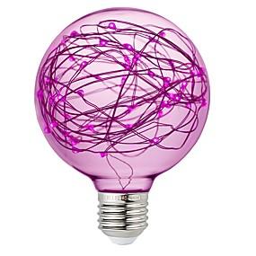 olcso LED gömbbúrás izzók-1 db g95-ös földgömb tündér izzó környezeti éjszakai megvilágításhoz. E26 / e27 standard közepes alapú edison csillagokkal díszített dekoratív lámpatestekkel a fürdőszoba hálószoba nappali részére