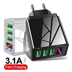 رخيصةأون شواحن USB-3 منافذ USB شاحن الاتحاد الأوروبي قابس الصمام عرض 3.1a شحن سريع شاحن الهاتف المحمول الذكية للقرص فون سامسونج xiaomi