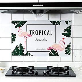 olcso Rendkívüli eszközök-magas hőmérsékleten ellenálló kályha olajmentes paszta konyhai csempe olajálló vízálló matrica háztartási öntapadós füst falragasztó