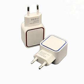 olcso USB Töltők-univerzális 5v 1a led kettős usb fali töltő otthoni utazási adapter gyors töltés eu us plug az iphone samsung xiaomi huawei j25