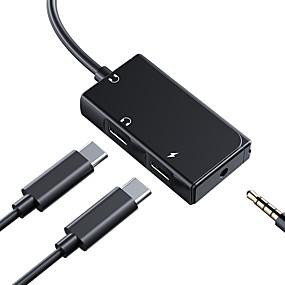 olcso Adapterek-c típusú usb rock c típusú audio mikrofon 3,5 mm-es audio spilliter beírásához